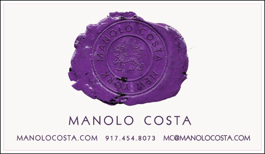 Manolo Costa - Business cards and identity package
