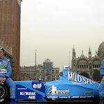 F1 car launch Benetton B201 Renault in Venice