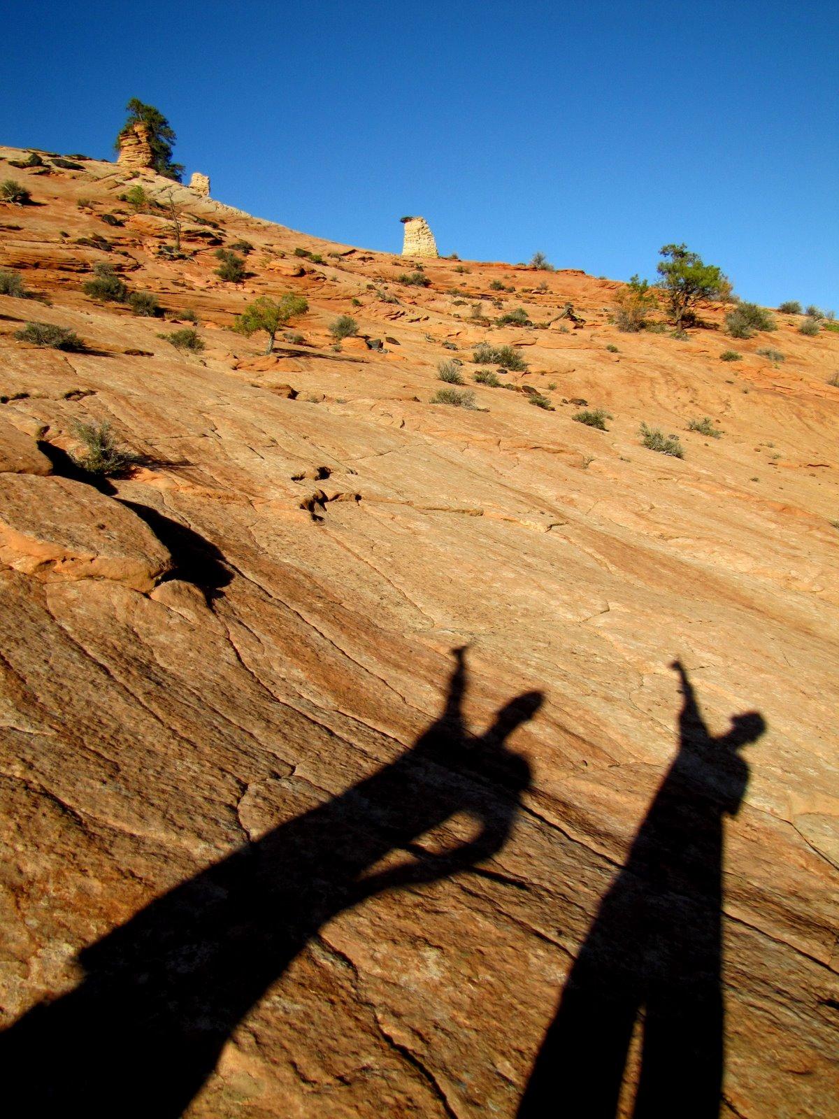 Árnyékaink a sziklán  Shadows on the rock