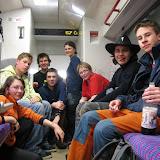 Na nádraží v Řevnici jsme skupinové foto nestihli - ve vlaku jsme to ale napravili