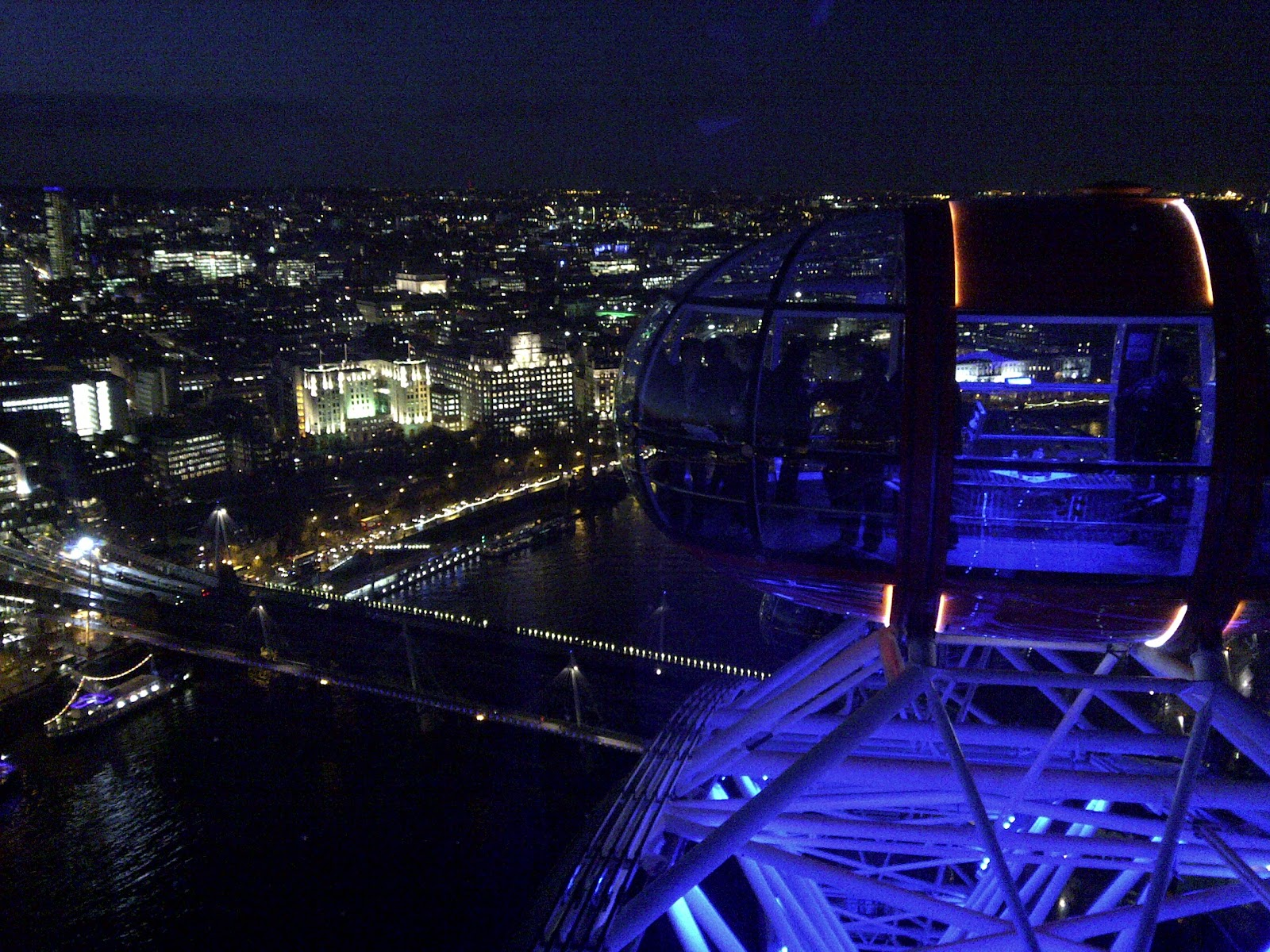 Spectacular views from the London Eye