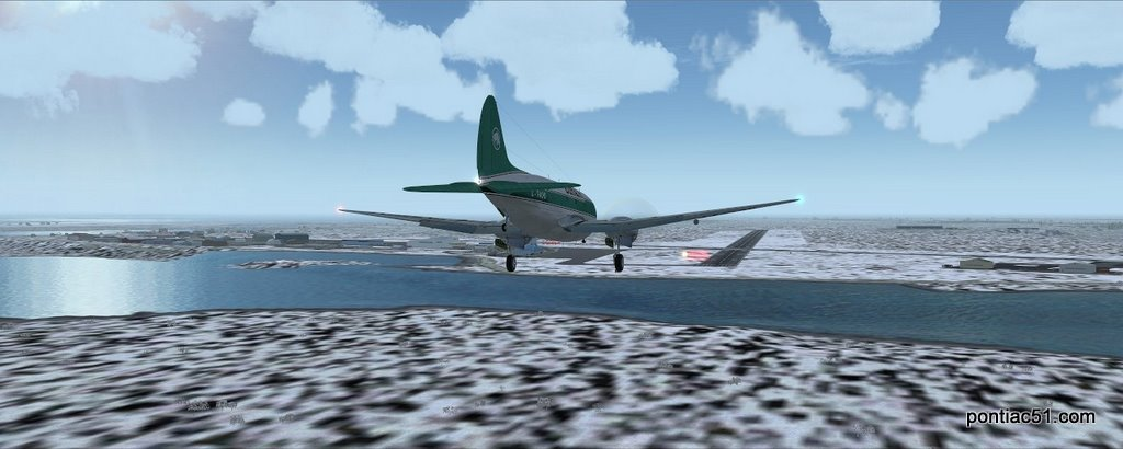 Final approach runway 15 Yellowknife.