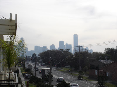 26 April 07 - The view back to the city from Andrew's apartment just before I head to the airport