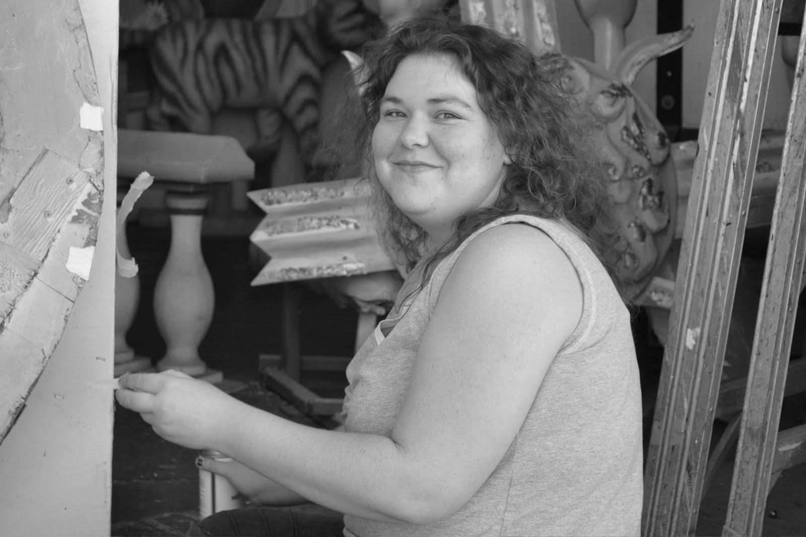 An artist at Blaine Kern's Mardi Gras World