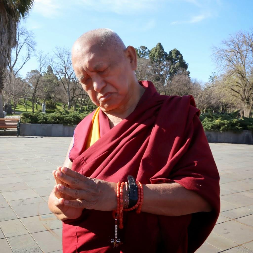 Lama Zopa Rinpoche in Bendigo, Australia, September 2014. Photo by Ven. Thubten Kunsang.