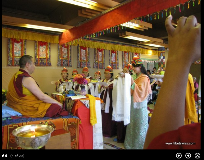 Guru Rinpoche bum tsog Rinpoche sponors in Switzerland
