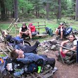 Cíl prvního dně puťáku starších: trampský kemp Mrazírna