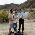 Going over the map with John and Elena