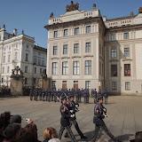 Na Pražský hrad jsme dorazili právě včas, abychom viděli střídání stráží na prvním nádvoří