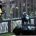 Nick Heidfeld crashed F1 car Sauber C20