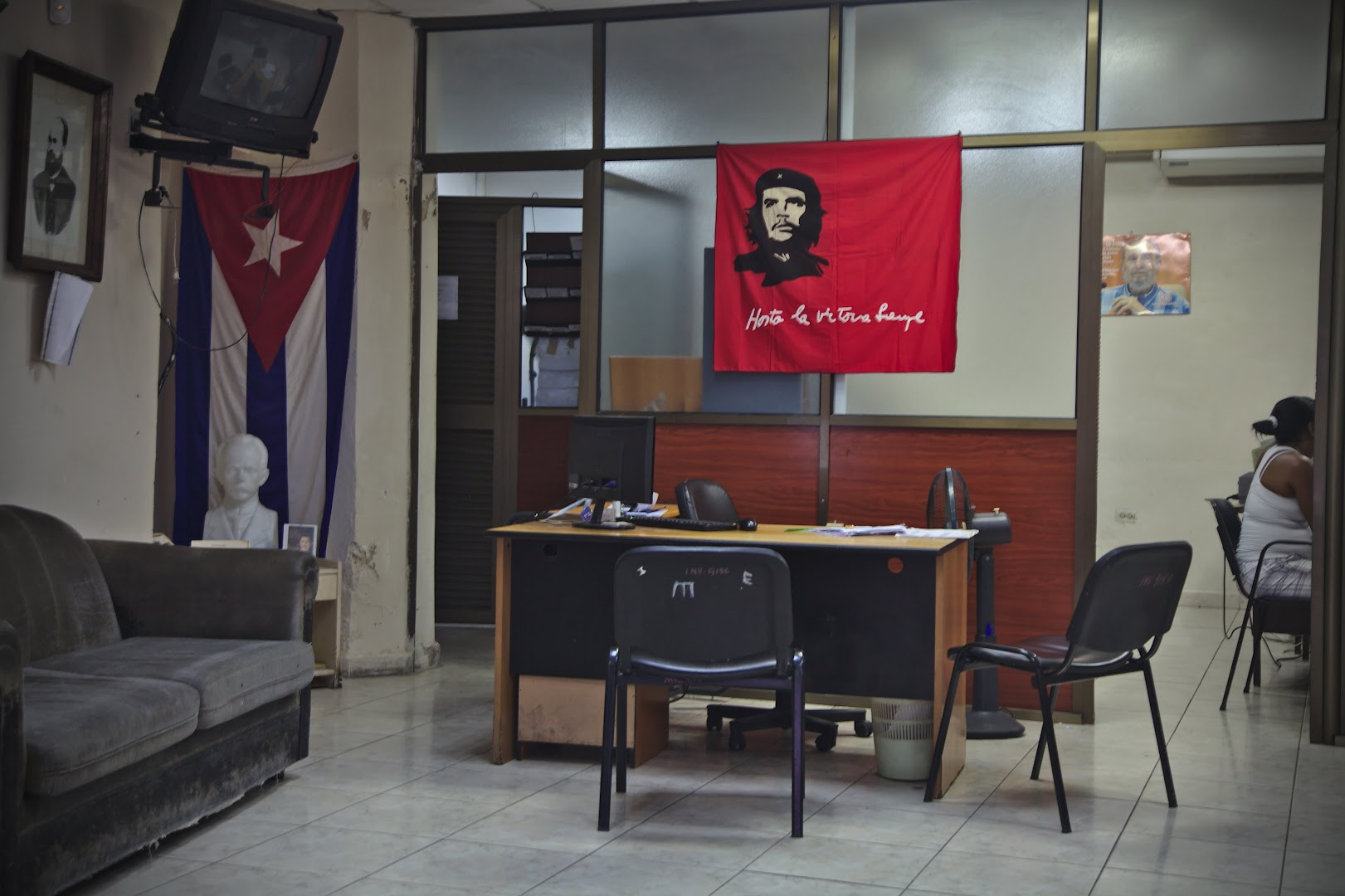 Typical Cuban office