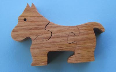 Puzzle 3 Piece Dog  4.7 x 3.25