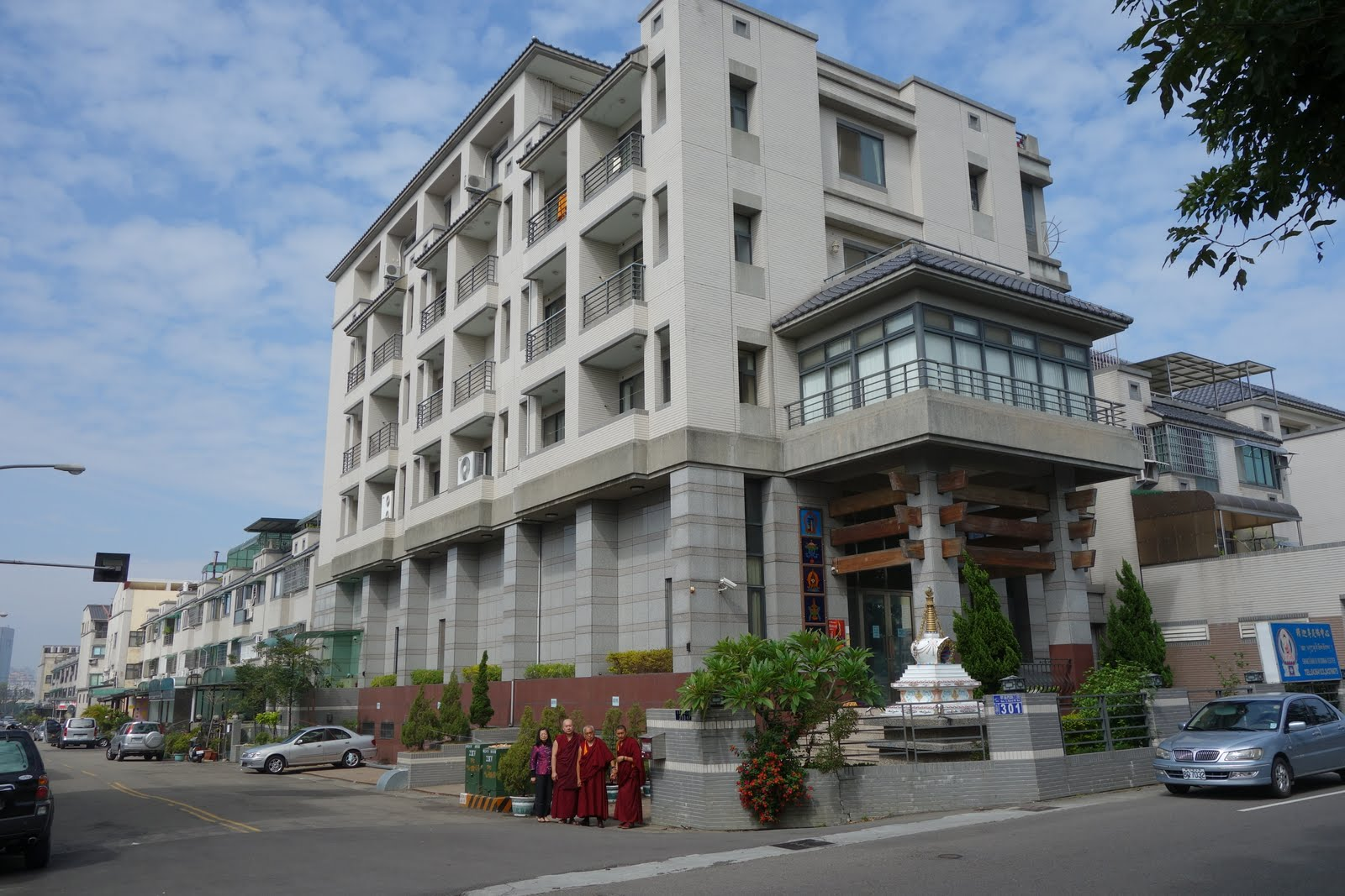 Rinpoche in front of Shakyamuni center
