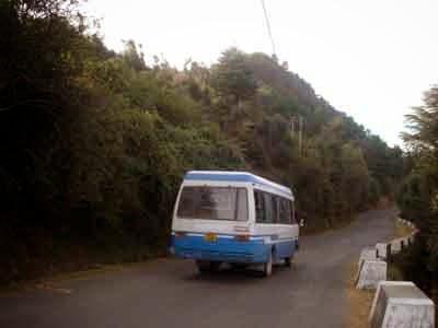 Road from Shoghi Bazaar to Sunrise Villa