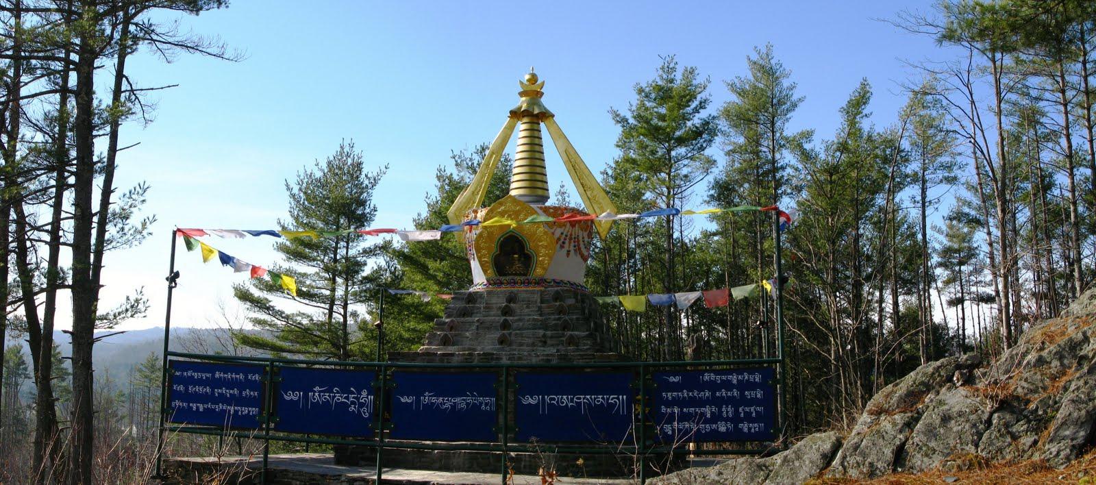 Stupa at Milarepa Center, Vermont, USA.