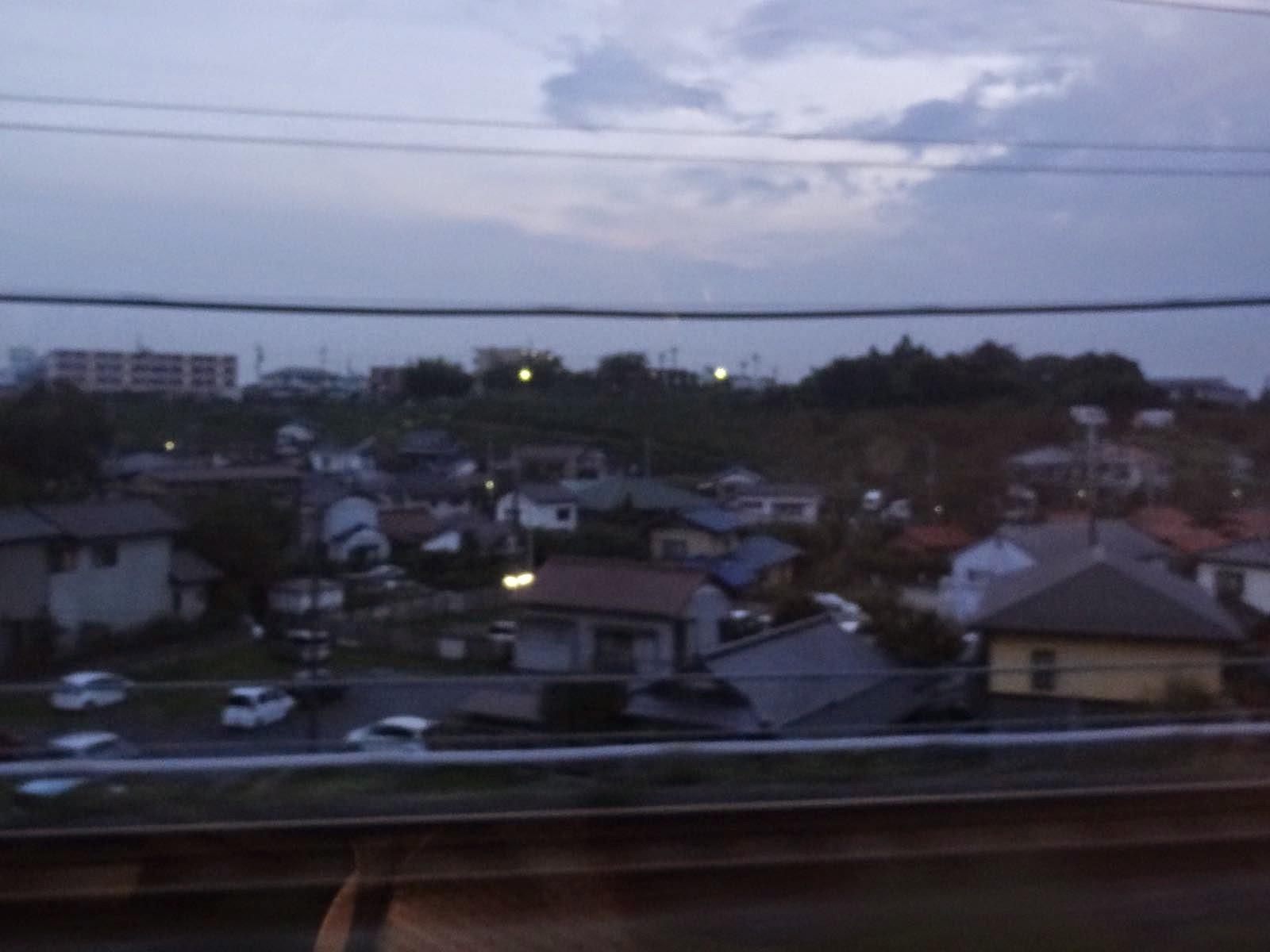 The sun was setting near Chiba