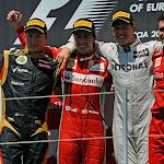2012 European Podium: 1. Alonso 2. Raikkonen 3. Schumacher
