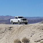 Our trusty Toyota Tacoma at the Domelands trail-head