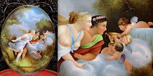 Декоративное фарфоровое блюдо. 1988 г. Фарфор, роспись. Подпись мастера. 40/32 см. 900 евро.