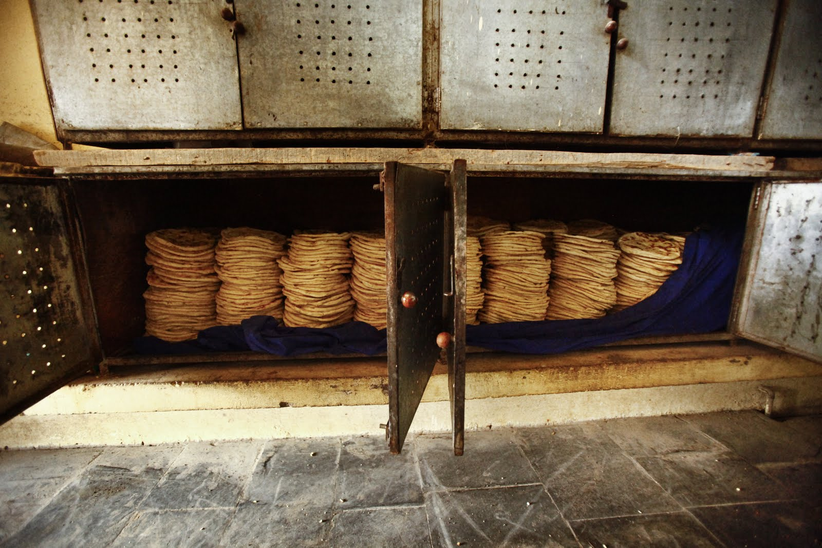 It takes a lot of bread to feed 2,500 monks!