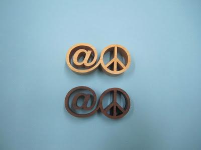 "@Peace 1"" Maple 3/4"" Black Walnut Pattern By Danny Kvalheim"
