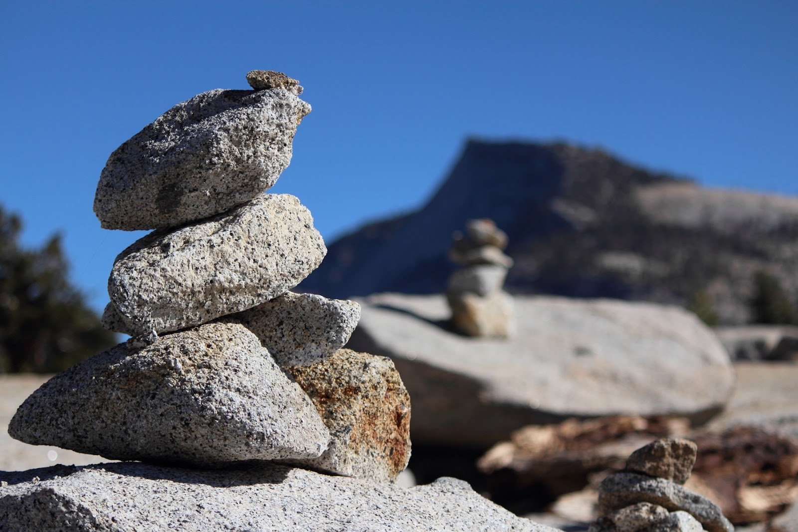Cairns at Olmsted Point