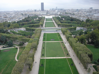 Up the tower overlooking Champ de Mars