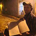 Without the possibility to travel, Luis looks at the world map and writes poems about places