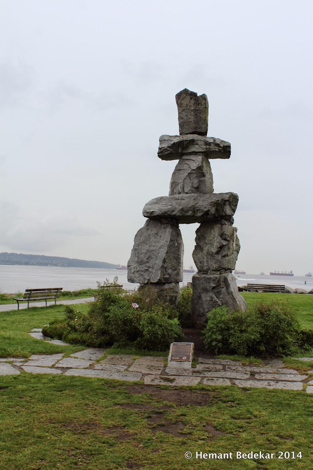 Inukshuk - An ancient symbol of the Inuit culture (https://en.wikipedia.org/wiki/Inuksuk)