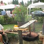 Szilvalekvár főzése üstben