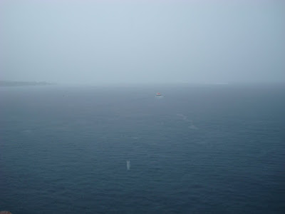 """After getting saturated going back to the ship, this is the """"view"""" from our balcony"""