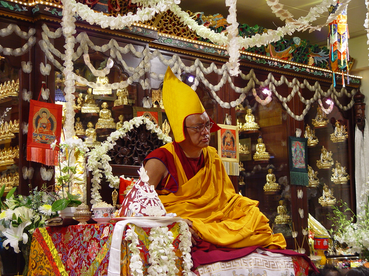 Long life puja offered in Hong Kong 2004.