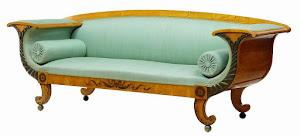 Антикварный диван из берёзы. ок.1880 г. 230 см. 8000 евро.