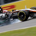 Nico Hulkenberg (GER) Sahara Force India F1 VJM08 locks up under braking