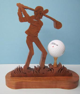 NOTSO Sharp Golfer Cherry Dirk Boelman Creative Woodworks August 2011