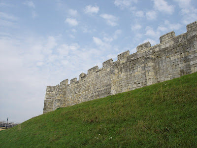 Part of the old city wall in York