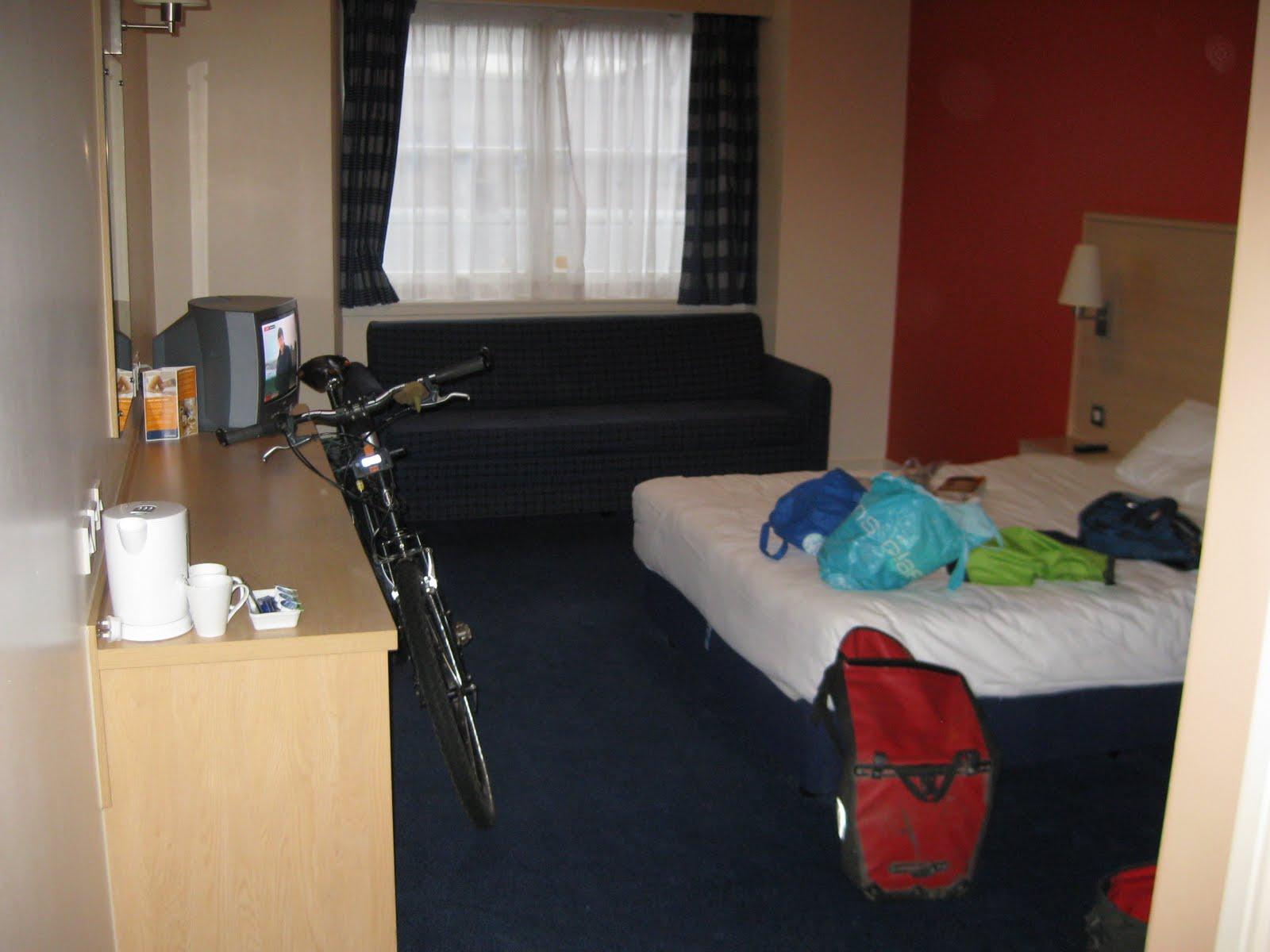 Where the bike belongs, in the bedroom