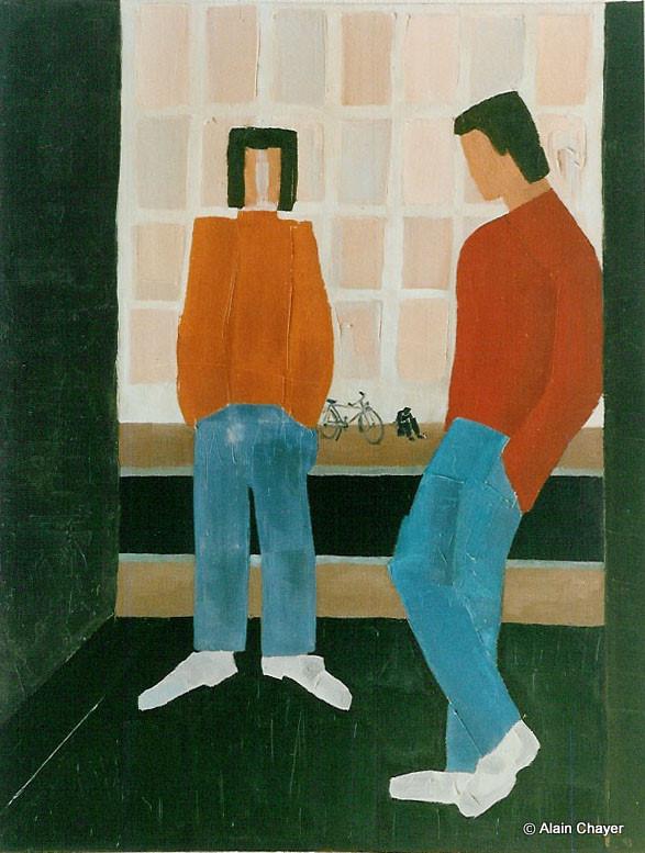 036 - Banlieue - 1993 92 x 73 - Acrylique sur toile
