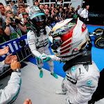 Lewis Hamilton congratulates Nico Rosberg
