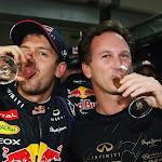 Sebastian Vettel & team principal Christian Horner (Red Bull Racing)