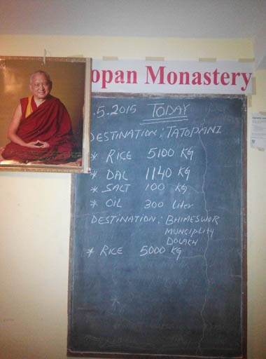 Kopan Monastery, Nepal, May 2015. Photo by Geshe Thuten Jinpa.
