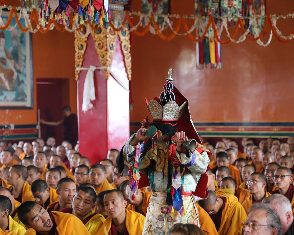Dakini dancer at long life puja, Kopan Monastery, December 12, 2014. Photo by Ven. Thubten Kunsang.