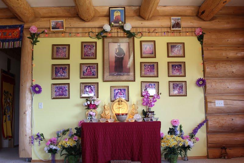 Altar of the 14 Dalai Lamas in Buddha Amitabha Pure Land
