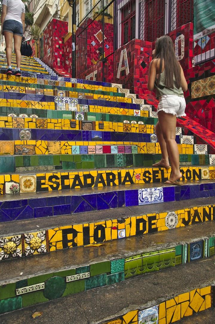 Escadaria Selaron was made by a Peruvian artist