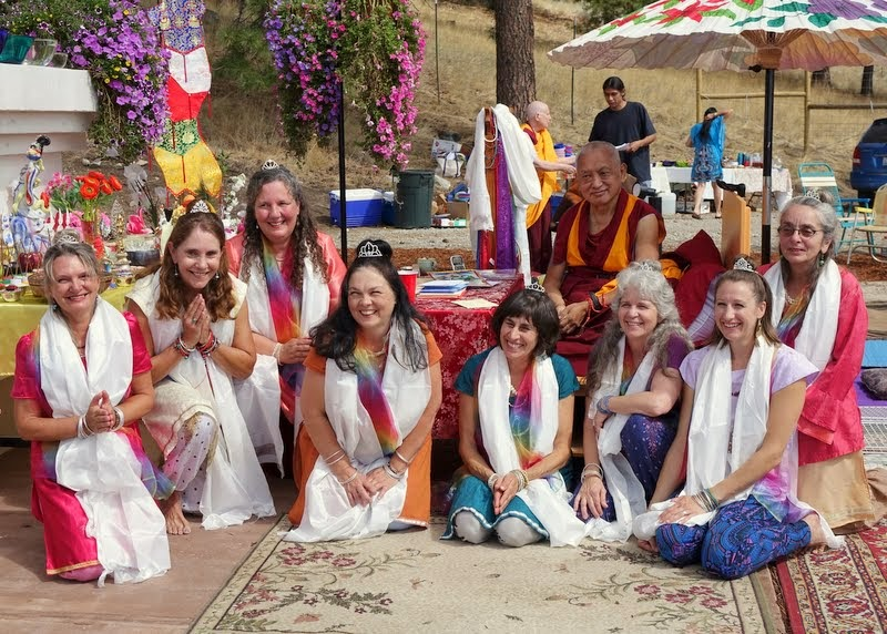 Tara dancers, Amitabha celebration day, Buddha Amitabha Pure Land, Washington, US, August 2014. Photo by Ven. Roger Kunsang.