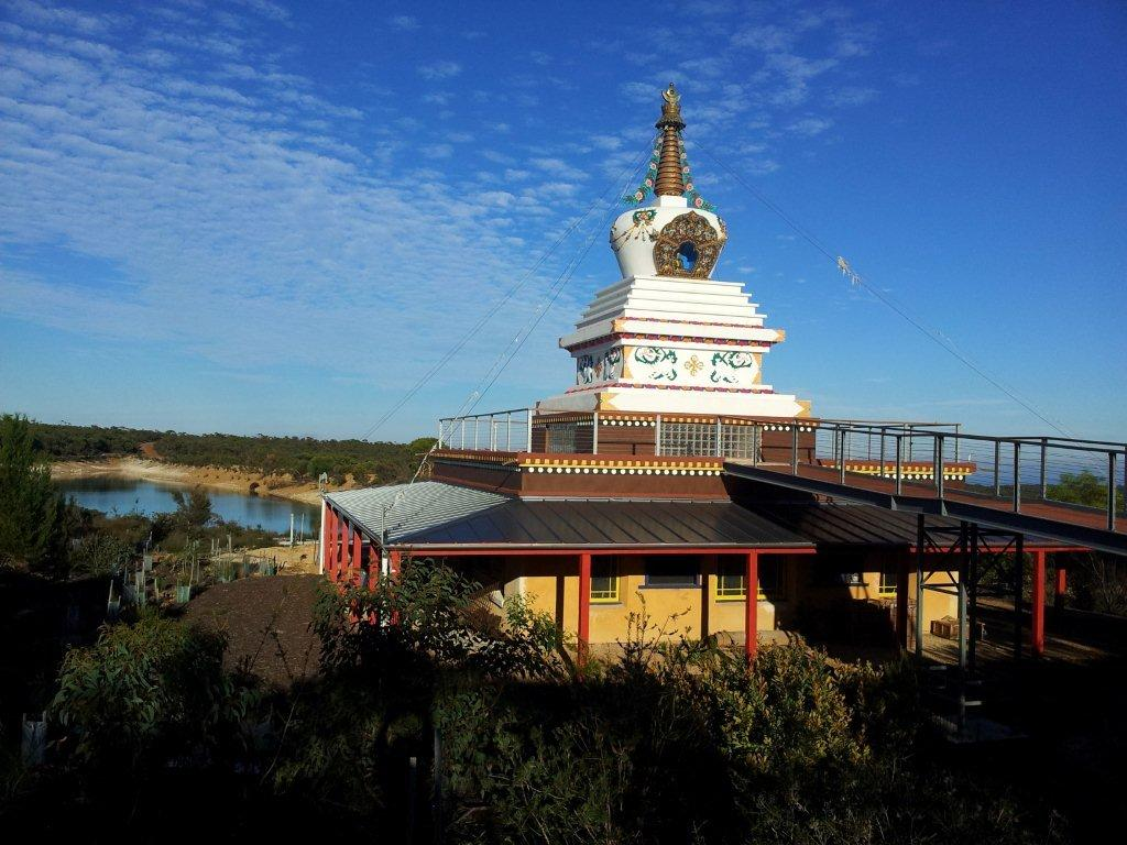 Enlightenment Stupa at Detong Ling, Kangaroo Island, Australia.