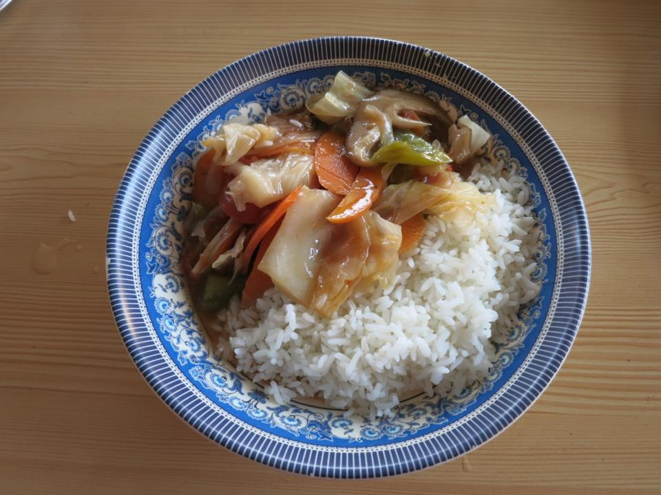 Rice with Vegetables, offered by the Sera Je Food Fund