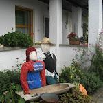 Az Aranka vendégház udvara felkészült a vendégek fogadására