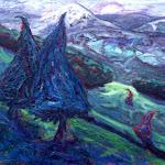 Scenic Picnic; oil on canvas; 1996