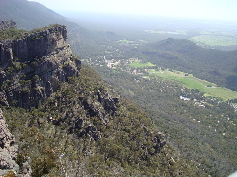 Halls Gap in the distance